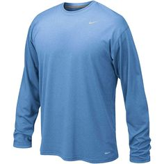 5add7804 Nike Mens Legend Long Sleeve Poly Top Large Sky Blue: Keep your cool with  Nike. Dri-FIT technology wicks away moisture so you stay comfortable and  dry ...
