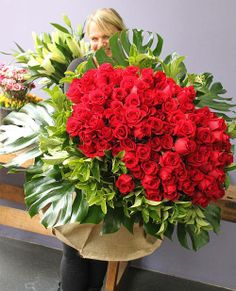 100 Red Rose Bouquet made from the very talented ladies down Pearsons Florist, in Sydney.