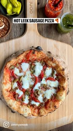Ham Pizza, Salami Pizza, Buffalo Mozzarella, Pickling Jalapenos, Roasted Red Peppers, Pizza Dough, Pizza Recipes, Parmesan, Pickles