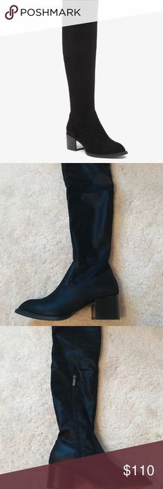BCBG over the knee boots I beautiful suede material in perfect condition! They are brand new in the box NEVER worn as you can tell from the pictures. They are sold out at Nordstrom and are going for over $150 on the BCBG website BCBGeneration Shoes Over the Knee Boots