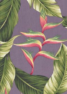 11pa lule is a cotton poplin Hawaiian fabric with a mauve background, Add Discount code: (Pin10) in comment box at check out for 10% off sub total at BarkclothHawaii.com