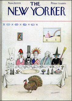 Saul Steinberg. Cover for The New Yorker, 1976