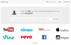 savilio.com - An easy way to download and see videos from Vimeo, Facebook, Youtube, Instagram, Soundcloud, and many many other sites