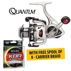 Quantum Exo Performance Tuned PTI Spin #Reels with FREE spool of KOR Braid available on January Sale in Australia provided by Dinga Fishing Tackle Store!