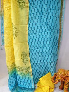 Kirans Boutique jaipur Partywear Yellow and Cyan Mugal print chanderi dupatta for ladies The post Partywear Yellow and Cyan chanderi dupatta for ladies appeared first on Kiran's Boutique. Kota Silk Saree, Indian Silk Sarees, Silk Suit, Cotton Suit, Suits For Sale, Suits For Women, Salwar Pants, Chanderi Suits, Kids Blouse Designs