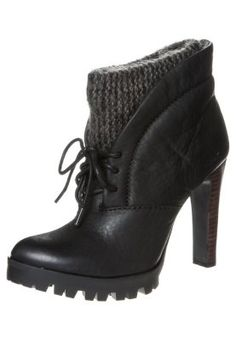 Calvin Klein Jeans - LEVIA - Lace-up boots - black. I kinda like these!