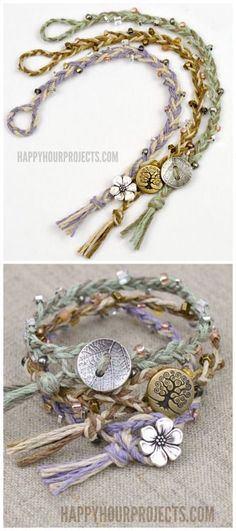DIY Braided Bead Bracelet Tutorial from Happy Hour... | TrueBlueMeAndYou: DIYs for Creative People | Bloglovin'