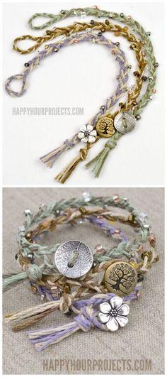 DIY Braided Bead Bracelet Tutorial from Happy Hour... | TrueBlueMeAndYou: DIYs for Creative People | Bloglovin'