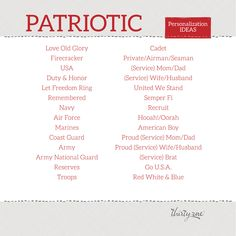 Red, White, and Blue - we have personalization ideas for you!