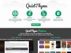 QuietThyme, créer une bibliothèque virtuelle en ligne gratuite