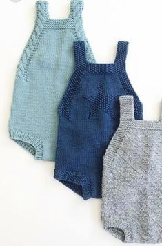 Diy Crafts - This Pin was discovered by Gra Knitting For Kids, Baby Knitting Patterns, Baby Patterns, Layette Pattern, Baby Romper Pattern, Knitted Baby Clothes, Knitted Romper, Baby Barn, Baby Pullover