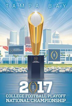 Alabama Crimson Tide vs. Clemson Tigers National Championship Game Program #Alabama #RollTide #Bama #BuiltByBama #RTR #CrimsonTide #RammerJammer