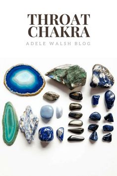Balance Your Chakras, Throat Chakra, Crystal Healing, Sodalite, Angelite, Dumortierite, Amazonite, Apatite