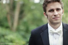 Groom with White Bowtie | http://brideandbreakfast.ph/2012/07/04/timeless-tale-of-true-love/ | Photography: Jeff and Lisa Photography