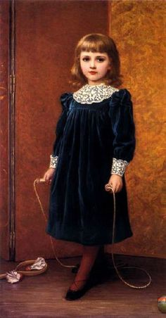 A Portrait of Dora -- by Kate Perugini (1839 – 1929, English; daughter of Charles Dickens)