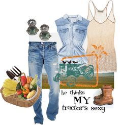He Thinks MY Tractor's Sexy, created by coconotta on Polyvore