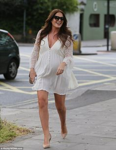 Hot mama! Pregnant Binky Felstead gathered her friends and family together on Sunday as sh...