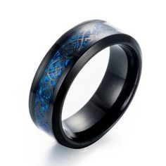Cheap dragon ring, Buy Quality stainless steel ring directly from China ring for Suppliers: eejart Black Stainless steel Ring Wedding Band blue Carbon Fiber des Nibelungen Dragon rings for men Ivar Le Désossé, Ivar Ragnarsson, Celtic Wedding Rings, Wedding Ring Bands, Mens Rings Online, Dragon Ring, Titanium Ring, Stainless Steel Rings, Blue Rings