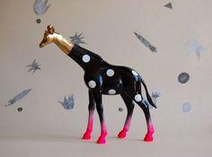 polka dot giraffe // the strange planet by thegoodmachinery. , via Etsy.