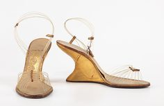 """""""Invisible Sandal"""" from Salvatore Ferragamo .... Collection 1947!!!! It is crazy to see how much fashion truly does recycle itself!!!"""