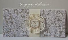 stampin'Up!, Karte, Gutschein, DIN lang, Hochzeit, Vintage