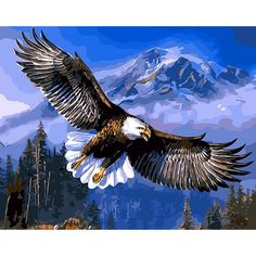 Frameless Eagle DIY Painting By Numbers Hand Painted Canvas Drawing Acrylic Paint Home Wall Art Picture Unique Gift 40x50cm #Affiliate