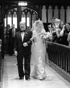 """See the """"On Dad's Arm"""" in our A Colorful and Crafty New York City Wedding gallery Walking In Heels, Walking Down The Aisle, Colored Wedding Dresses, Wedding Colors, Cute Wedding Ideas, Wedding Inspiration, Wedding Superstitions, Feminist Movement, Wedding Rituals"""