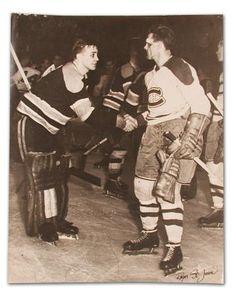 Sugar Jim Henry Shakes Maurice Rocket Richard's Hand.