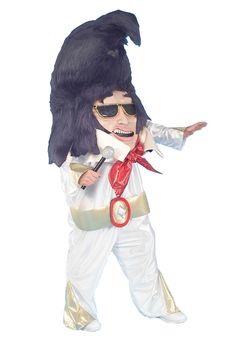 Big Head Rock N Roll King Costume in Elvis Costumes and 1950 Rockers: Funny big-head King of Rock-N-Roll costume includes oversized hat headpiece, chestpiece with face and hair, and white jumpsuit! One size Halloween costume fits most adults. Clever Halloween Costumes, Costumes For Sale, Funny Costumes, Pet Costumes, Mascot Costumes, Cool Costumes, Adult Costumes, 1950s Costumes, Halloween Parade