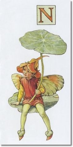 Cicely Mary Barker - A Flower Fairy Alphabet - The Nasturtiun Fairy Archival Fine Art Paper Print