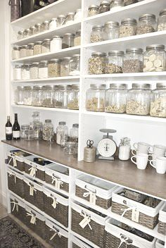 Love this simple organised kitchen idea.