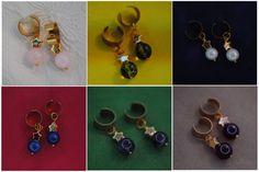 Garnet Amethyst Pearl Rose Quartz Peridot Lapis Lazuli 24k Gold Star Earrings | Steven Universe Crystal Gems | Ear Cuff Pair | Gemstone Cuff