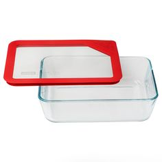 Pyrex® Ultimate 6 Cup Rectangle Storage Dish, RedUltimate 6 Cup Rectangle Storage Dish, Red