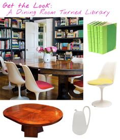 Get the Look: A Dining Room Turned Library