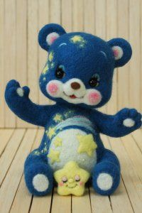 羊毛フェルト 星くま | Needle felted teddy bears