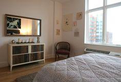 Minimalist bedroom.