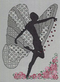 Dawn Blackwork with Cross Stitch Kit by Classic Embroidery