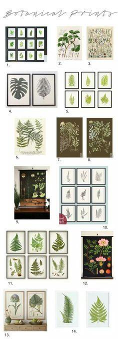 Botanical printables