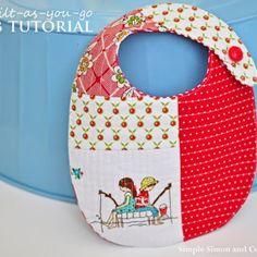 quilt as you go baby bib tutorial---simplesimonandco