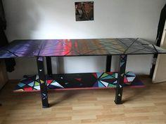 So sieht mein Tisch nun fertig aus Origami, Maya, Desk, Furniture, Home Decor, Table, Desktop, Decoration Home, Room Decor
