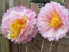 flores gigantes de papel crepe