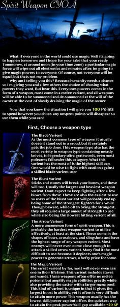Spirit Weapon CYOA (From /tg/) - Imgur