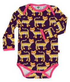Småfolk - Tiger, body ecológico, bebé, niña | organic baby girl body