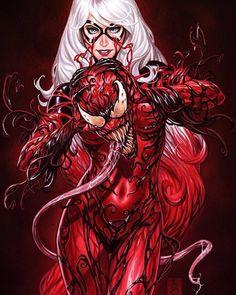 The Very Best of Women in Comics — Carnage & the Black Cat by Matheus Henrique Venom Comics, Marvel Venom, Marvel 3, Marvel Women, Marvel Girls, Comics Girls, Marvel Heroes, Marvel Universe, Arte Dc Comics