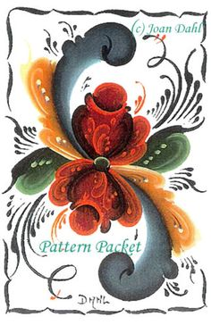 ATC-Trading-Cards-10-Authentic-Norwegian-Telemark-Rosemaling-Patterns-TelRT