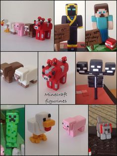 More Minecraft Figures Minecraft Party, Minecraft Birthday Cake, Minecraft Cake Toppers, Fondant Figures, Crea Fimo, Minecraft Tutorial, Fondant Decorations, Fondant Tutorial, Fondant Toppers
