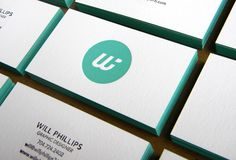 Personal Business Card by Will Phillips, via Behance; coolest logo i've seen in a minute