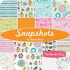 "Snapshots 10"" StackerBella Blvd for Riley Blake Designs - Layer Cake Fabric & 10"" Squares   Fat Quarter Shop"