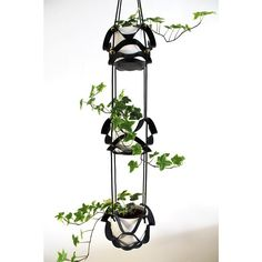 Our new Triple Tier Plant Hanger is pretty damn cool! #hangingplanter #leatherplanthanger