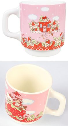 Hello Kitty Mug Cup Hello Kitty × Strawberry Shortcake 1620Yen